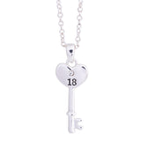 EQLB 18TH HEART KEY N/LACE - Gifts R Us
