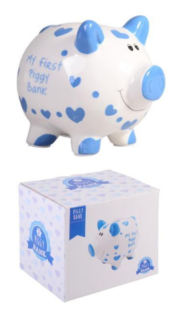 MY FIRST PIGGY BANK BLUE - JJs Newsagency plus