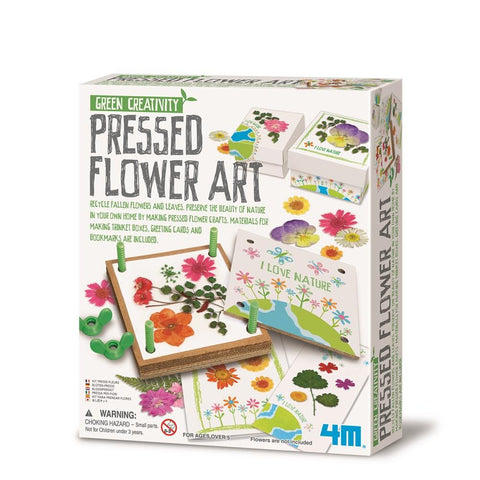 4M GREEN SCIENCE PRESSED FLOWER ART - Gifts R Us