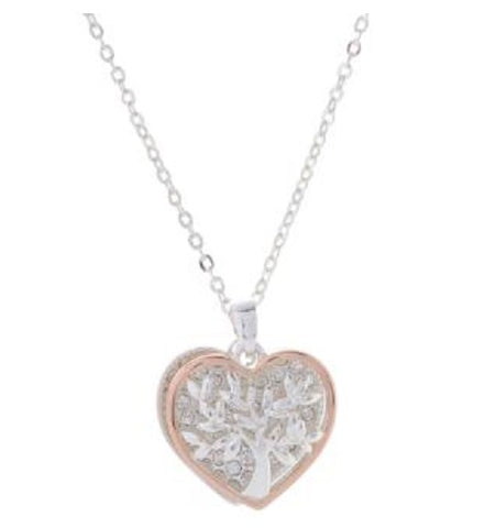 EQLB TREE.OF.LIFE. HEART NECKLACE ROSE GOLD - Gifts R Us