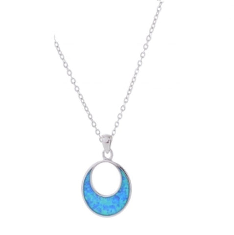 EQLB OPALIQUE NECKLACE CRESCENT MOON - Gifts R Us