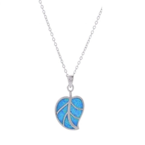 EQLB OPALIQUE NECKLACE LEAF - Gifts R Us