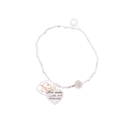 EQLB SENTIMENT CHARM B/LET FRIENDS ALWAYS AND FOREVER - Gifts R Us
