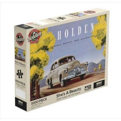 IMPACT PUZZLE HOLDEN SHE'S A BEAUTY 1948 HOLDEN 48-215 SEDAN 1000PC - Gifts R Us