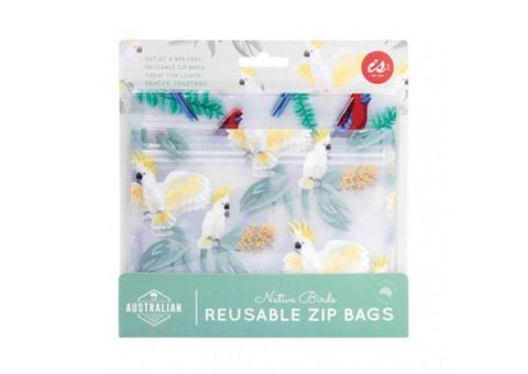 AUSTRALIAN COLLECTION REUSABLE ZIP BAGS (SET OF 8) - JJs Newsagency plus