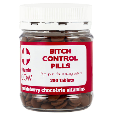 BITCH CONTROL PILLS FRECKLEBERRY CHOCOLATE VITAMINS - Gifts R Us