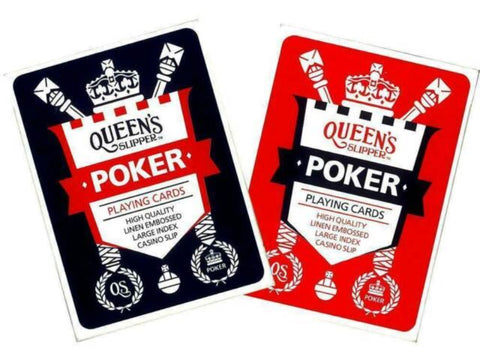 CARDS PLAYING QUEENS SLIPPER POKER - Gifts R Us