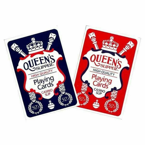 CARDS PLAYING QUEENS SLIPPER CASINO SLIP - JJs Newsagency plus