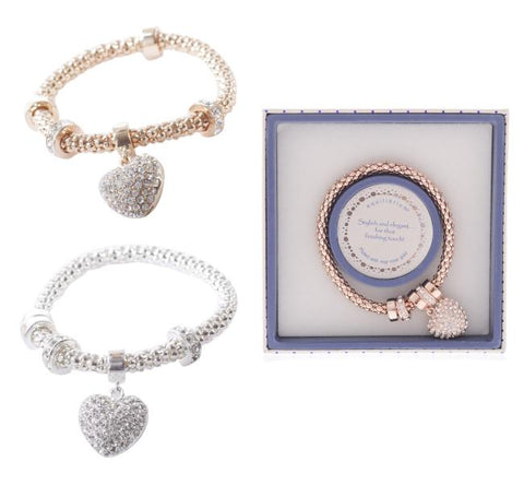 EQLB MESH HEART BRACELET ROSE GOLD - JJs Newsagency plus