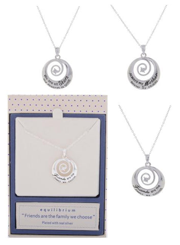 EQLB SENTIMENT SWIRL N/LACE ALWAYS MY MOTHER FOREVER MY FRIEND - Gifts R Us