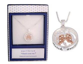 "EQLB CRYSTAL GRDN ANGEL NECKLACE ""WATCH OVER ME"" - Gifts R Us"