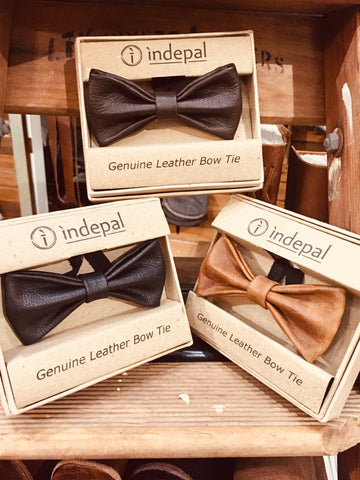FLANNERY LEATHER BOW TIE - JJs Newsagency plus