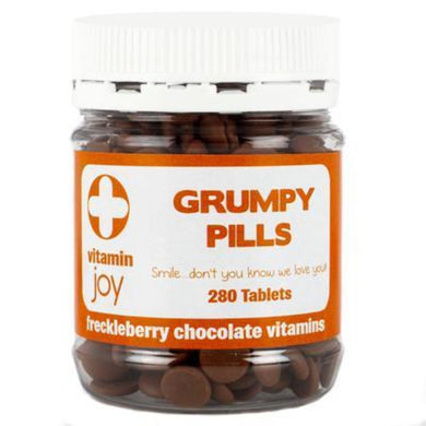 GRUMPY PILLS FRECKLEBERRY CHOCOLATE VITAMINS - JJs Newsagency plus