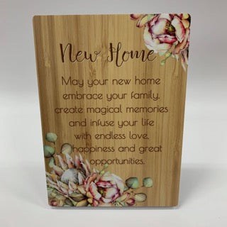 BUNCH OF JOY SENTIMENT PLAQUE 18X13 NEW HOME - JJs Newsagency plus