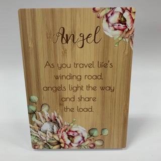 BUNCH OF JOY SENTIMENT PLAQUE 18X13 ANGEL - JJs Newsagency plus