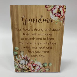 BUNCH OF JOY SENTIMENT PLAQUE 18X13 GRANDMA - Gifts R Us