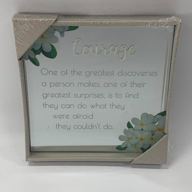 BEST WISHES MIRROR PLAQUE COURAGE - JJs Newsagency plus