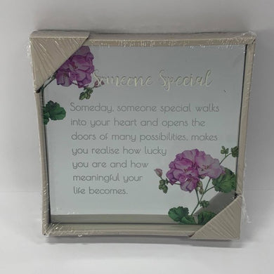 BEST WISHES MIRROR PLAQUE 15CM SOMEONE SPECIAL - JJs Newsagency plus