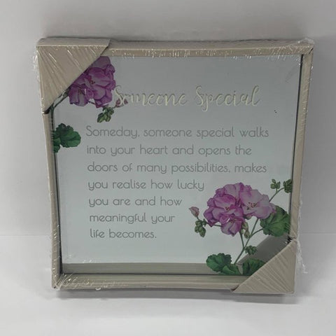 BEST WISHES MIRROR PLAQUE 15CM SOMEONE SPECIAL - Gifts R Us