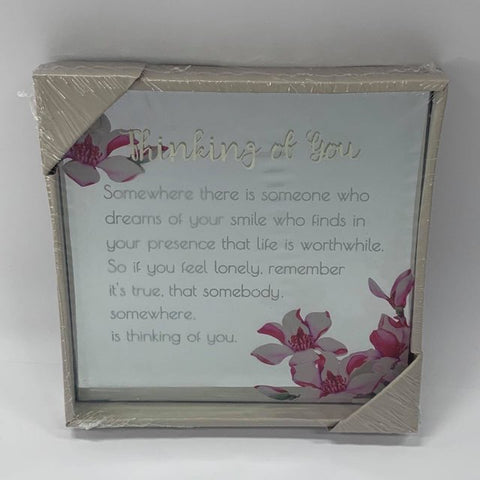 BEST WISHES MIRROR PLAQUE 15CM THINKING OF YOU - Gifts R Us