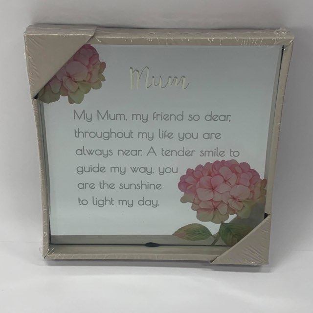 BEST WISHES MIRROR PLAQUE 15CM MUM - JJs Newsagency plus