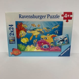 RBURG COLOURFUL UNDERWATER WORLD PUZZEL 2X24PCE - Gifts R Us