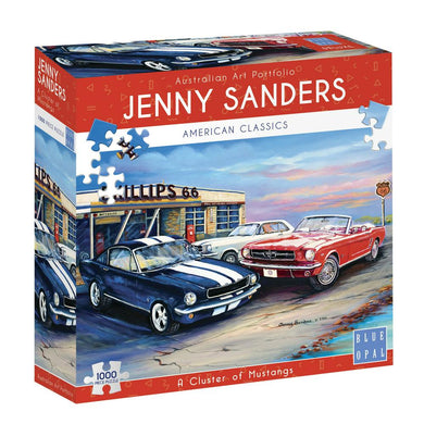 SP- JIGSAW PUZZLE BLUE OPAL DELUXE 1000 PIECE CLUSTER OF MUSTANGS - JJs Newsagency plus