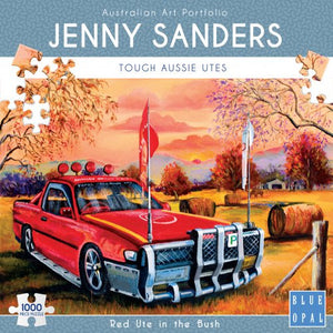 JENNY SANDERS RED UTE IN THE BUSH - JJs Newsagency plus
