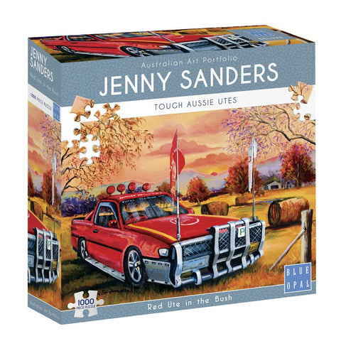 JENNY SANDERS RED UTE IN THE BUSH - Gifts R Us