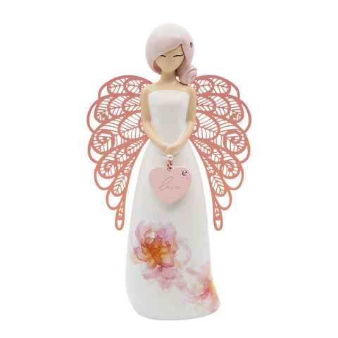 YOUR AN ANGEL FIGURINE 155MM LOVE (FLORAL) - JJs Newsagency plus