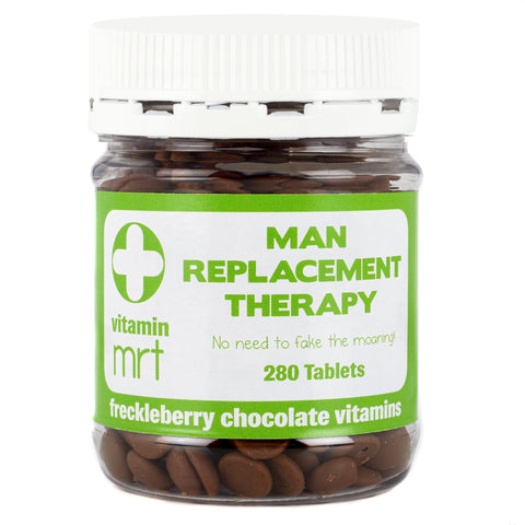 MAN REPLACEMENT THERAPY FRECKLEBERRY CHOCOLATE VITAMINS - Gifts R Us