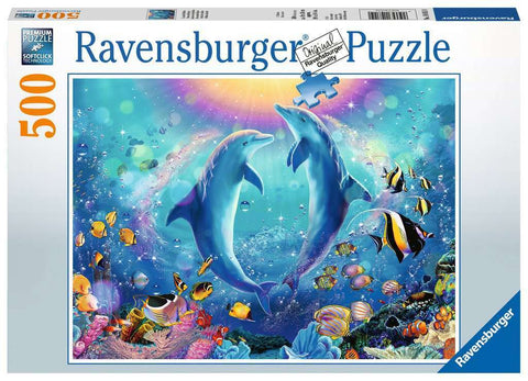 RAVENSBURGER PUZZLE DOLPHINE 500 PC - JJs Newsagency plus