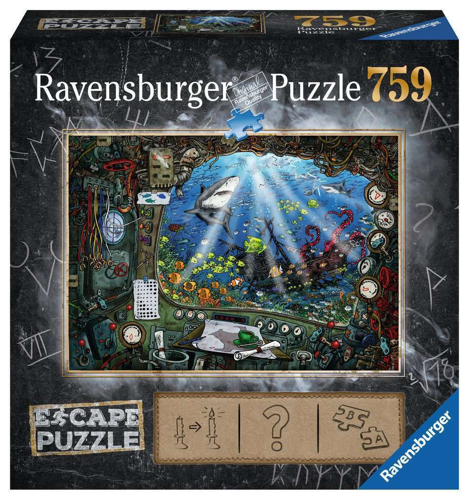 RBURG ESCAPE 4 SUBMARINE PUZZLE 759PC - JJs Newsagency plus