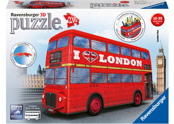 RBURG LONDON BUS 3D MODEL 216PC - JJs Newsagency plus
