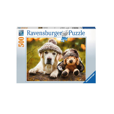 RAVENSBURG WINTER LABRADOR 500PC PUZZLE - JJs Newsagency plus