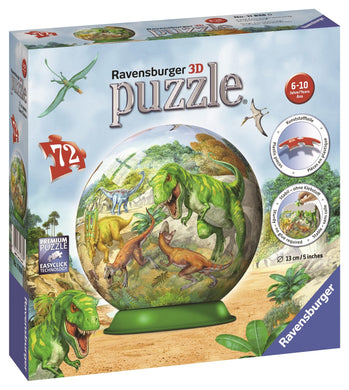 RBURG KINGDOM OF THE DINOSAURS PUZZLEBALL 72PC - JJs Newsagency plus