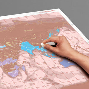 SCRATCH MAP ROSE GOLD EDITION - JJs Newsagency plus