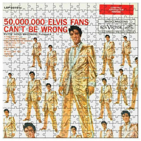 LICENSED PUZZLE ELVIS PRESLEY GOLD ALBUM PUZZLE 1000PCE - Gifts R Us