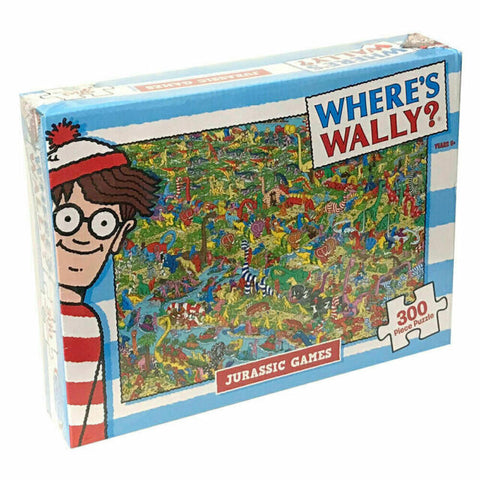 JIGSAW PUZZLE - WHERE'S WALLY JURASSIC GAMES 300pce - JJs Newsagency plus