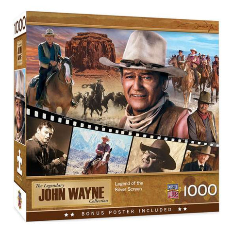 MASTERPIECES PUZZLE JOHN WAYNE LEGEND OF THE SILVER SCREEN 1000 PCE - JJs Newsagency plus