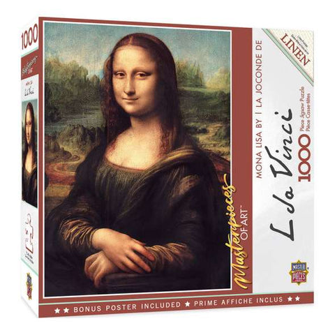 MASTERPIECES PUZZLE MASTERPIECES OF ART MONA LISA PUZZLE 1000 PCE - JJs Newsagency plus