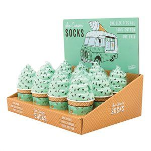 ICE CREAM SOCKS MINT CHOC CHIP - JJs Newsagency plus