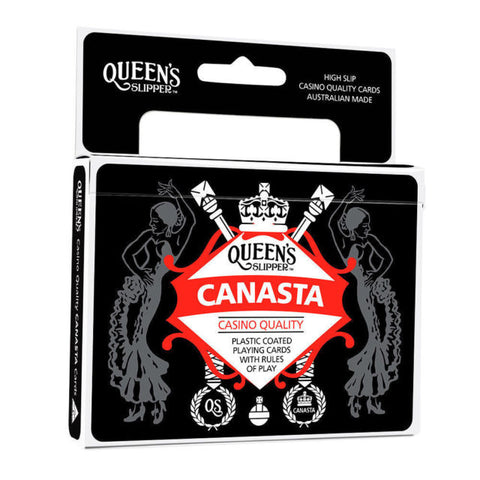 CANASTA PLAYING CARDS QUEENS SLIPPER - Gifts R Us