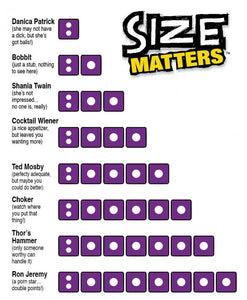 SIZE MATTERS - JJs Newsagency plus