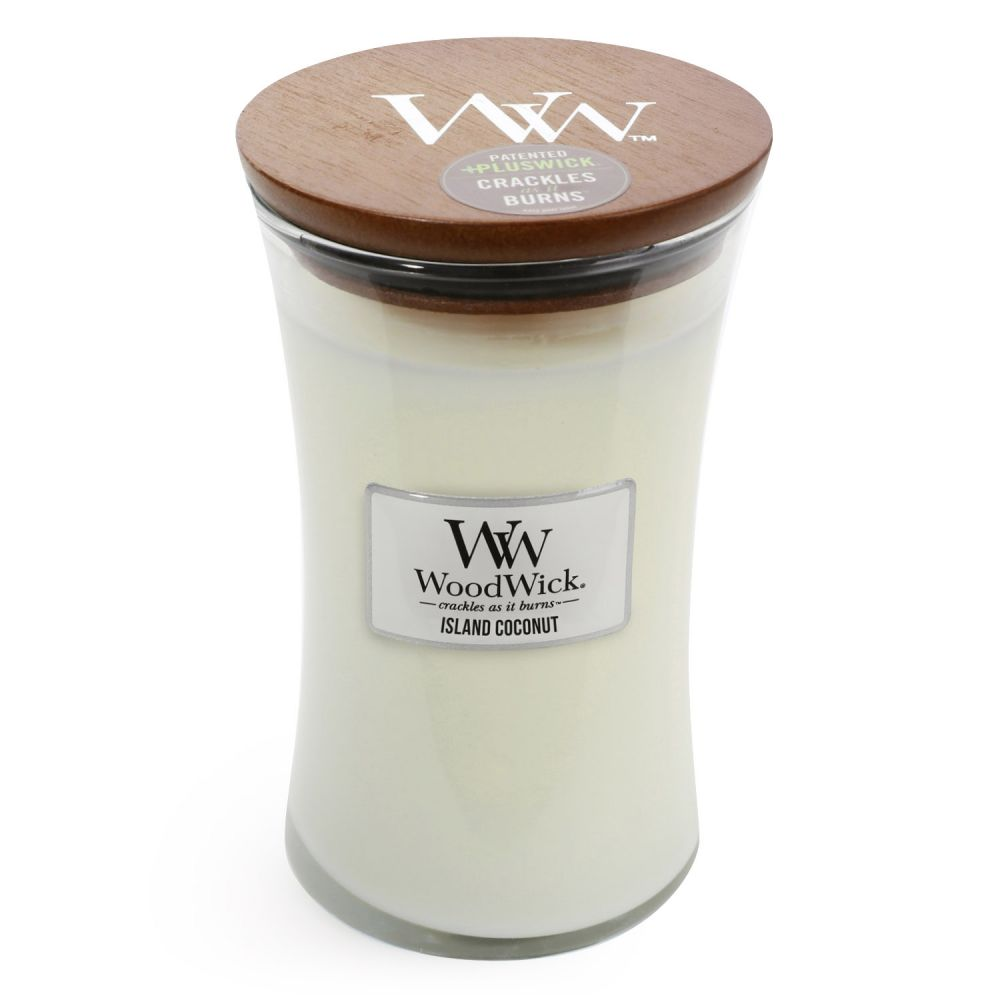 CANDLE WOODWICK LARGE HOURGLASS ISLAND COCONUT - JJs Newsagency plus