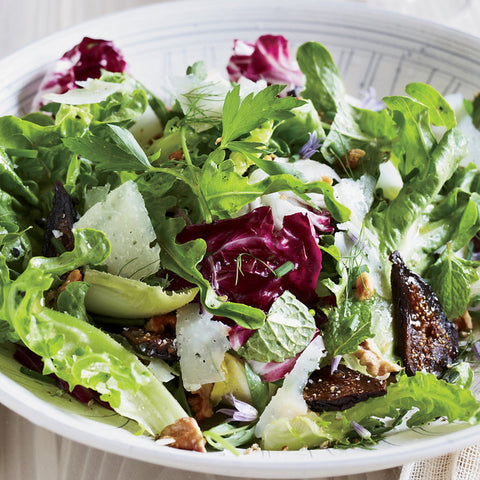 Mixed Greens with Port Soaked Figs & Feta