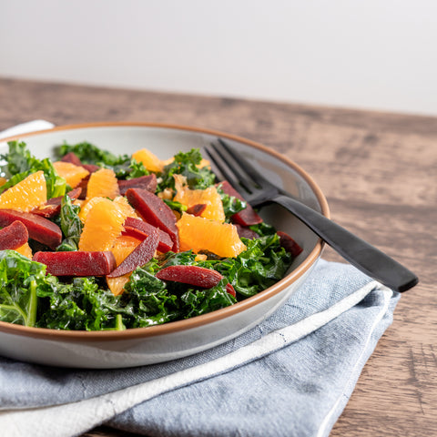 Roasted Beet Salad with Oranges & Kale