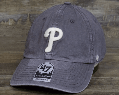 47 Brand Hats One Size 47 Brand, Unisex Phillies Cinder Hudson Clean Up Hat (Dark Grey)