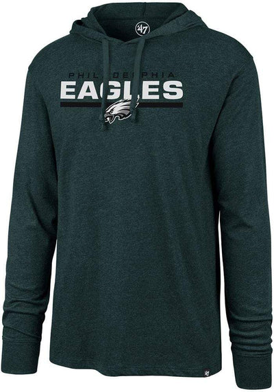 47 Brand Men's Sweatshirt Large / Green 47 Brand, Men's Lightweight Eagles Hoody (Green)