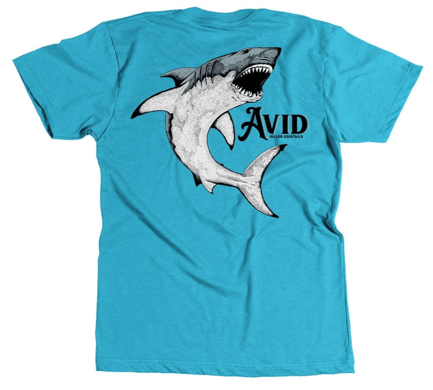 Avid Men's Tee Shirt Medium Avid, Men's Killer Cocktails Graphic Tee (Lake Blue)